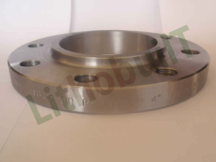 Lap joint flange with neck
